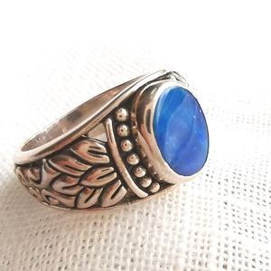 NWT opal sterling silver ring size 7